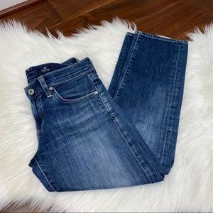 AG Adriano Goldschmied Tomboy Crop Jeans Size 25
